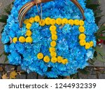 he bouquet of flowers in a... | Shutterstock . vector #1244932339