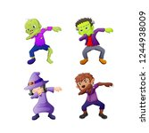 dabbing cartoon halloween... | Shutterstock .eps vector #1244938009