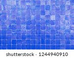 blue wall tile wall paper use... | Shutterstock . vector #1244940910