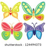 collection of various colorful... | Shutterstock .eps vector #124494373