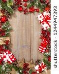christmas decoration  red stars ...   Shutterstock . vector #1244947393