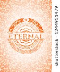 eternal abstract orange mosaic... | Shutterstock .eps vector #1244951479