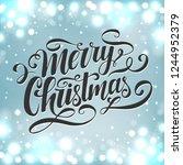 merry christmas vector... | Shutterstock .eps vector #1244952379