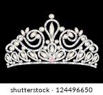 illustration tiara crown women... | Shutterstock .eps vector #124496650