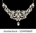 illustration necklace women's... | Shutterstock .eps vector #124496869