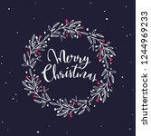 merry christmas festive  words... | Shutterstock .eps vector #1244969233