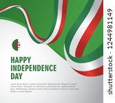 happy algeria independence day...   Shutterstock .eps vector #1244981149