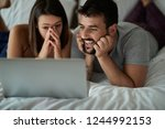 laughing boyfriend and... | Shutterstock . vector #1244992153