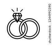 diamond ring icon vector | Shutterstock .eps vector #1244992390