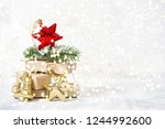 christmas ornaments and gifts...   Shutterstock . vector #1244992600