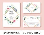 wedding invitation  thank you ... | Shutterstock .eps vector #1244994859