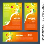 juce fruit drops orange and... | Shutterstock .eps vector #1244996833