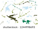 hand drawn set of green ink... | Shutterstock .eps vector #1244998693