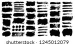 brush strokes. vector... | Shutterstock .eps vector #1245012079
