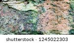 Green Moss Covered Stone...
