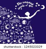Ballerina In Starry Dress