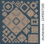 mega set of design elements. ... | Shutterstock .eps vector #1245027100