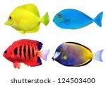 Set Of Tropical Sea Fish...