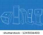 blueprint of five promotional... | Shutterstock .eps vector #1245036403
