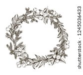 decorative wreath made of...   Shutterstock .eps vector #1245036433