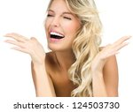 portrait of attractive ... | Shutterstock . vector #124503730