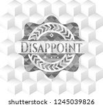 disappoint grey badge with... | Shutterstock .eps vector #1245039826