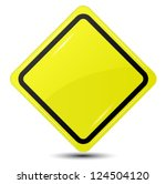 blank yellow sign isolated on... | Shutterstock .eps vector #124504120