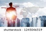 double exposure of elegant... | Shutterstock . vector #1245046519