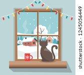 Christmas Window With Winter...