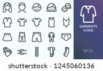 garments icons set. set of... | Shutterstock .eps vector #1245060136