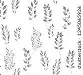 silver glitter  floral element... | Shutterstock .eps vector #1245065926