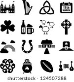 ireland icons   Shutterstock .eps vector #124507288