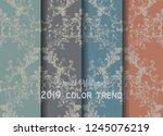 vintage baroque victorian... | Shutterstock .eps vector #1245076219