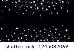 snow blizzard effect. bbright ... | Shutterstock .eps vector #1245082069