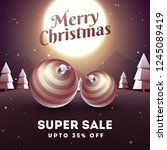 super sale banner or poster... | Shutterstock .eps vector #1245089419
