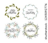 big collection of hand written... | Shutterstock .eps vector #1245092776