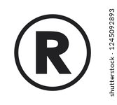 register icon vector | Shutterstock .eps vector #1245092893
