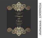 wedding invitation card... | Shutterstock .eps vector #1245094216