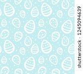 easter eggs and specks  flecks  ... | Shutterstock . vector #1245094639