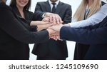 close up. business team shows... | Shutterstock . vector #1245109690