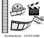 film strip vector set | Shutterstock .eps vector #124511080