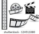 film strip vector set | Shutterstock .eps vector #124511080