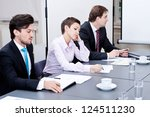 business team on table in... | Shutterstock . vector #124511230
