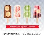 fruit popsicles ice cream... | Shutterstock .eps vector #1245116110