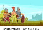 ancient hunter background with... | Shutterstock .eps vector #1245116119