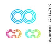 infinity and looped colorful... | Shutterstock .eps vector #1245117640