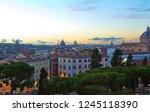 rome panorama building evening. ...   Shutterstock . vector #1245118390