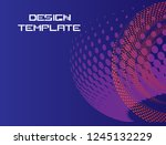 abstract geometric stripe... | Shutterstock .eps vector #1245132229