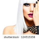Fashion Beauty Girl. Punk Styl...