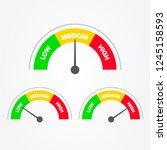 vector illustration speedometer ...   Shutterstock .eps vector #1245158593